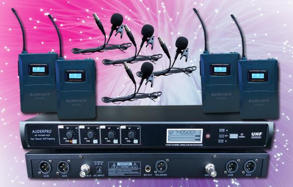 mic wireless auderpro ap929-4l digital lavalier