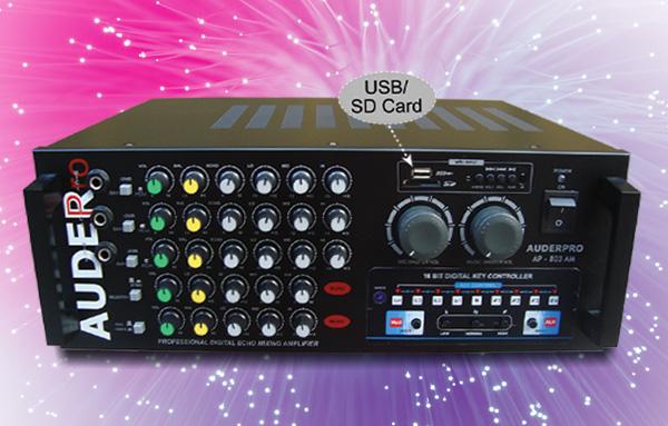 mixer ampli karaoke auderpro ap-803am usb