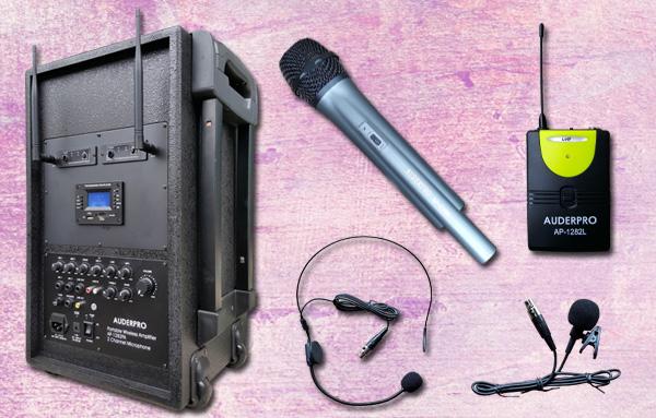 c1 portable wiireless auderpro ap1282pa-b bluetooth usb