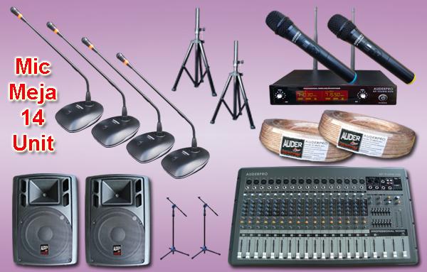 Mic meja kabel auderpro ap-917 M1 14 mikrofon + sound system