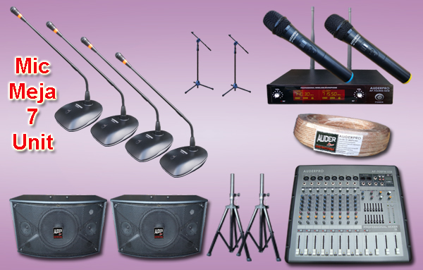 Mic meja kabel auderpro ap-917 M5 7 mikrofon + sound system