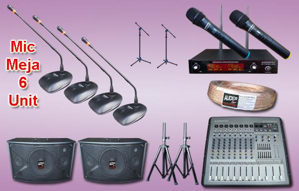 Mic meja kabel auderpro ap-917 M6 6 mikrofon + sound system