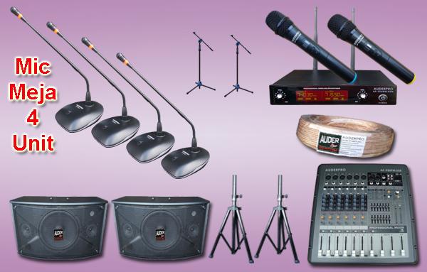 Mic meja kabel auderpro ap-917 M8 4 mikrofon + sound system