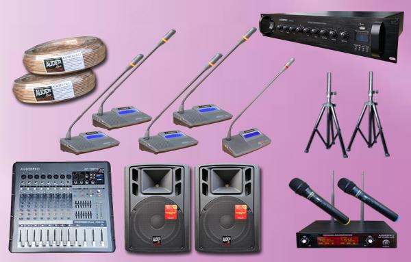 conference kabel P4 auderpro 16 mic + sound system